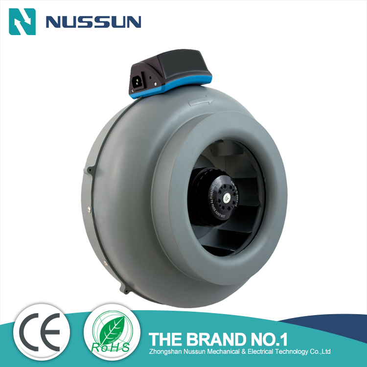 Plastic inline duct fan for hydropoincs