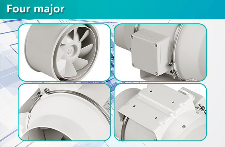 Mixed flow inine duct fan for hydroponics greenhouse ventilation(DJT25UM-66P)