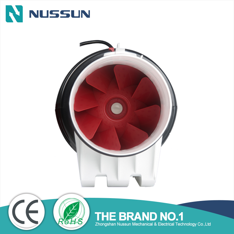 Wholesale silent mixed flow inline duct fan for home ventilation(DJT150P)